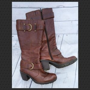 b•o•c Born Concepts Brown Leather Boots